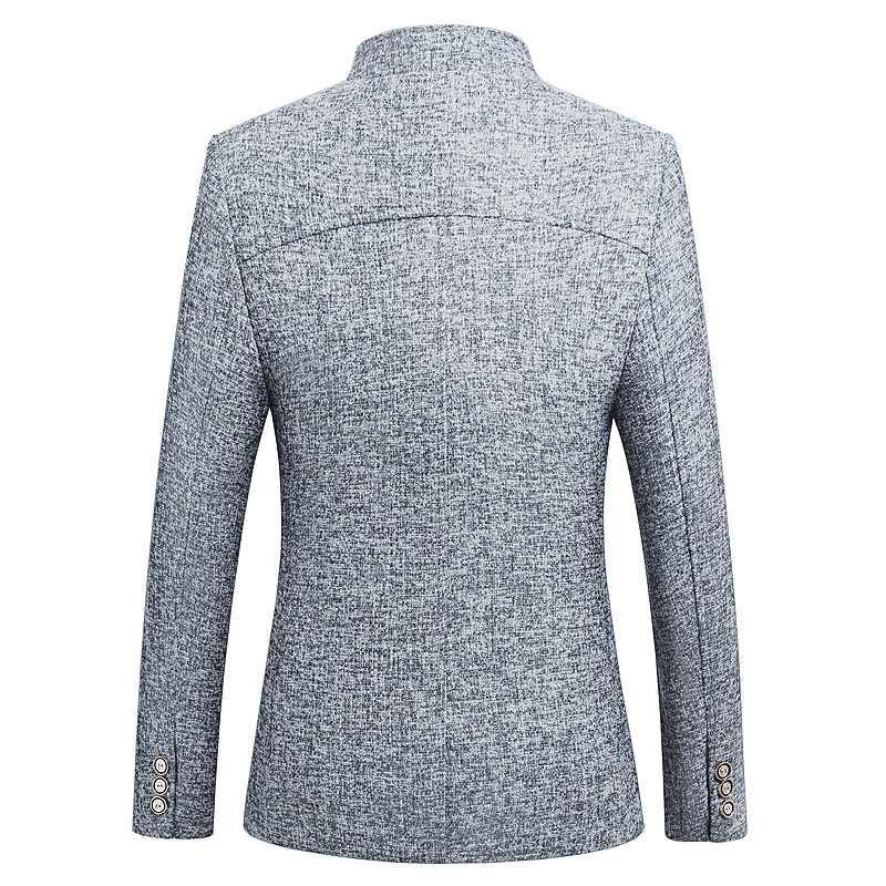 HCXY Блейзер Для мужчин весной 2019 Новый китайский стиль Бизнес Повседневное воротник мужской пиджак Slim Fit Для мужчин s блейзер размеры M-5XL