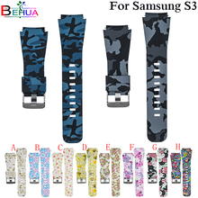 Colorful Silicone Watchband for Samsung Gear S3 Classic Frontier 22mm Watch Band For Huami Amazfit Sport Strap Replacement band