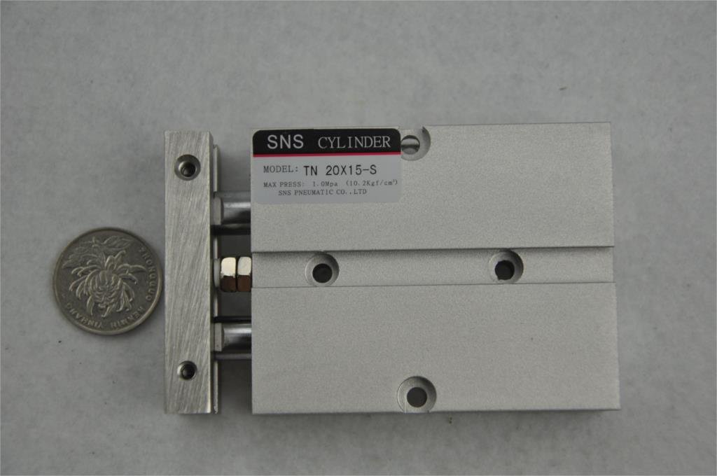 714049 s 15 5 SNS TN20 * 15-S M5with magnetic reed Airtac type  twin rod  guide dual shaft acting guide  air pneumatic cylinder