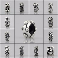 Authentic 925 Sterling Silver Spacer Stopper Mocha Bow Flower Footprint Bead Charm Fit European Style 3mm