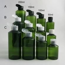 Doldurulabilir boş 50 100 150 200 ml 5oz büyük kozmetik kehribar PET plastik şişe şampuan losyon krem cilt bakımı şişeleri kapaklı