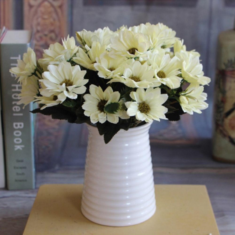 1pcs Artificial Fake Flower Bouquet Silk Daisy Flowers For Weding