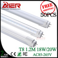 promotion 4ft T8 led tube light 1.2M 18W 20W AC85-265V, CE Rohs approved, 50pcs/lot Fedex Free Shipping