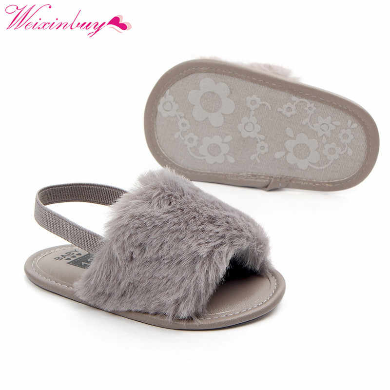 Сандалии для девочек; обувь для маленьких девочек; модная облегающая детская обувь из искусственного меха; детские летние детские сандалии; тапочки; сандалии для девочек