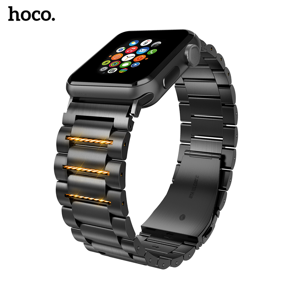 HOCO Stainless Steel Watchband Quick Release Pins For Apple Watch 44 Mm Link Bracelet Replacement Watchband For Iwatch Serise 4