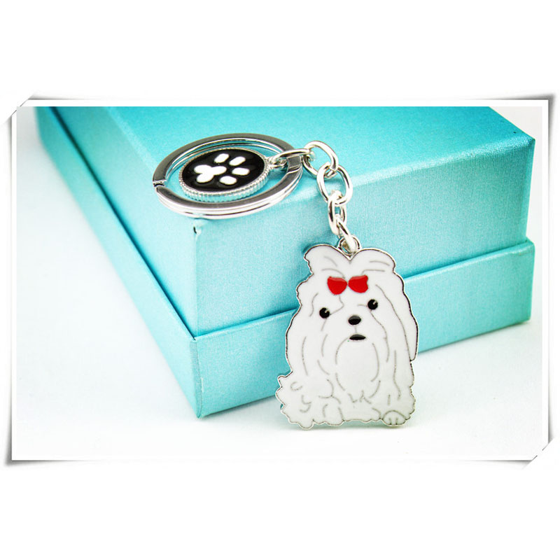 DIY Maltese Dog Pet Key Chain Car Key Ring Gift For Best Friend Metal - Fashion Jewelry - Photo 5