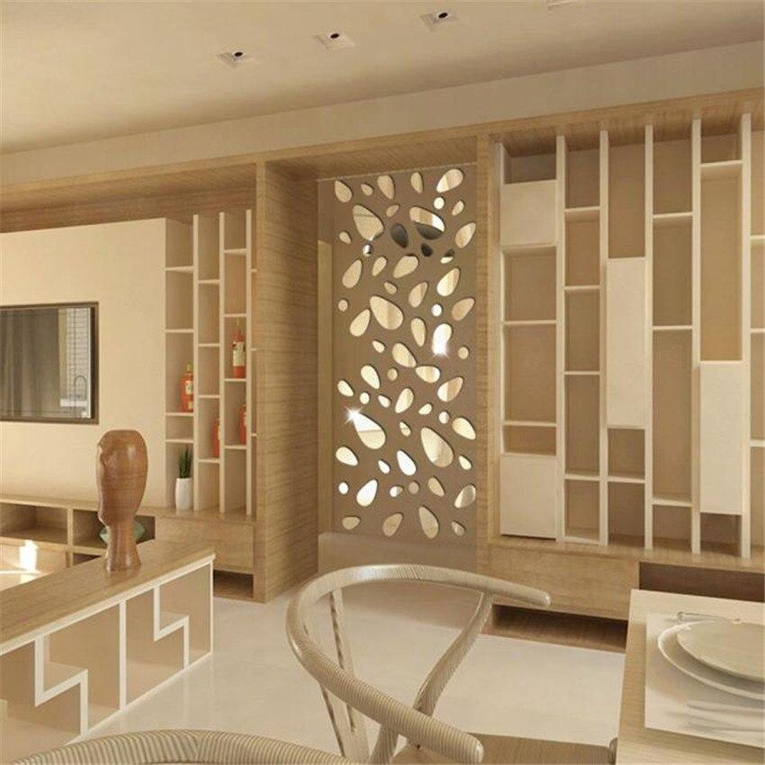 Wallpaper Sticker 12Pcs 3D Mirror Vinyl Removable Wall Sticker Decal Home Decor Art DIY Wallpapers For Living Room B#