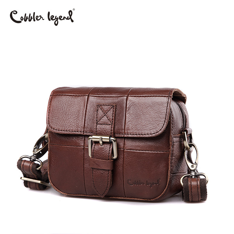 Cobbler Legend 2018 Genuine Leather Shoulder Bag Cowhide Small Messenger Bags Men Crossbody Bag Travel Lock Handbags New Men цена