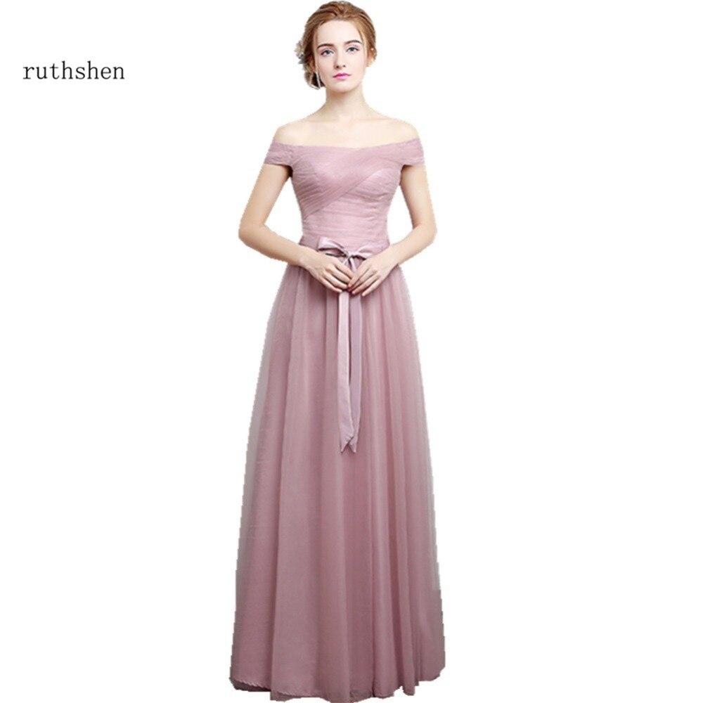Ruthshen 2018 New Bridesmaid Dresses Long Off Shoulder