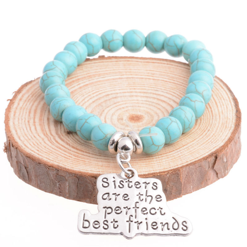 Best Friend Charm Bracelet: Sister Are The Perfect Best Friends Pendant Charm Bracelet