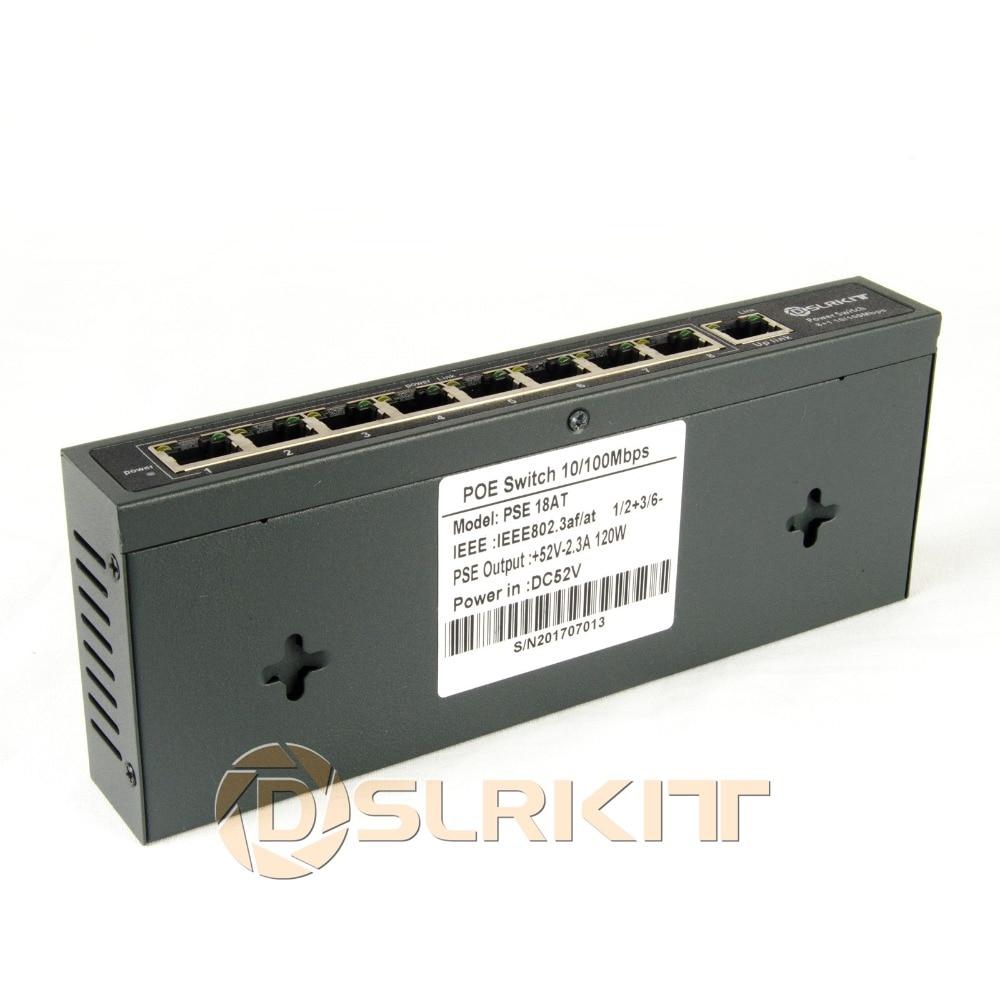 DSLRKIT 120 watt 9 ports 8 PoE commutateur 802.3af 802.3at puissance sur Ethernet PSE18AT - 2