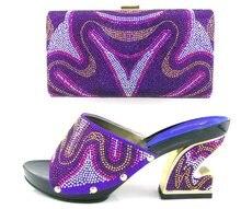 Frauen schuh und tasche zu passen set für party und hochzeit mit diamanten italienischen schuh mit passender tasche set new fashion Q1-19