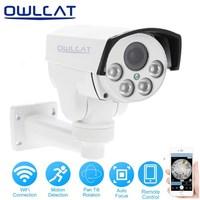 OwlCat Wireless PTZ IP Camera Outdoor 1080P HD 5X Zoom Pan Tilt Rotation CCTV Security Network