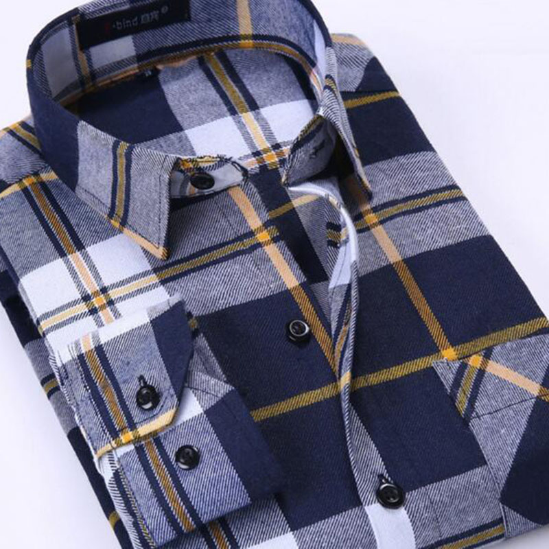 Men Casual Grind Cotton Flannel Camisa Shirts,Plaid Printed Candy Color Patchwork Shirts England Style Long Sleeve Cloth