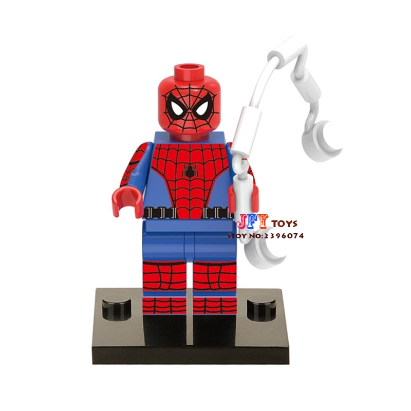 50pcs superhero clvil war Spiderman building blocks bricks friends for girl boy kids children toys brinquedos