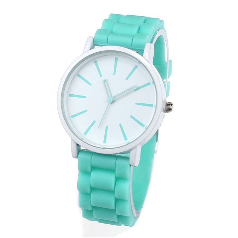 Luxury Women Watch Silicone Rubber Unisex Quartz Analog Sports Women Fashion Wrist Hot Pink For Lovely Girls #4m14 (29)