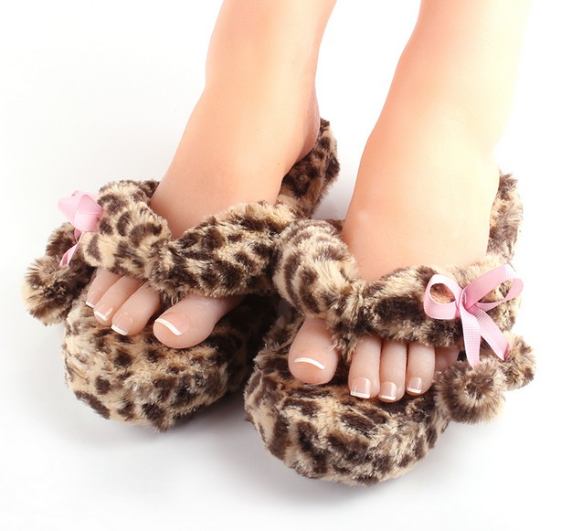 e576b932063d Woman Autumn Footwear Indoor House Shoes Pom Pom Thong Slippers Winter  Fleece Flip Flops 5 Colors Fit EUR 35 39 US 5 8-in Slippers from Shoes on  ...