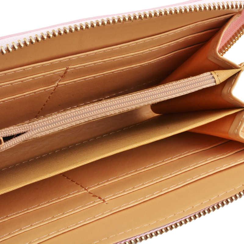 レディースロングクラッチ財布女性ファッション Pu レザー蝶結びコインバッグ電話財布女性カードホルダー財布