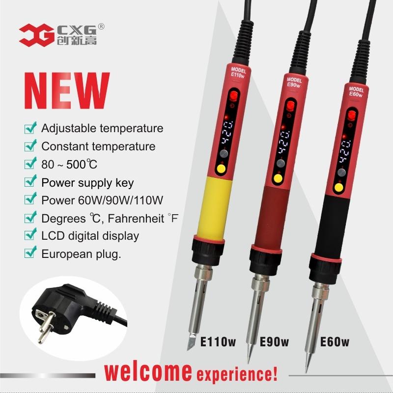 Professional Soldering Iron LED Digital Adjustable Electric Solder Iron 60W Constant Temperature  CXG E90W E110W E60WT(China)