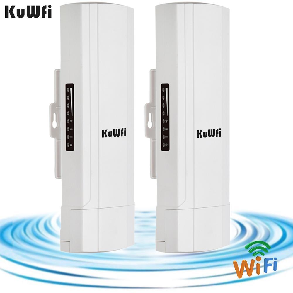 KuWFi extérieur CPE routeur Wifi répétdor Wifi Extender 2 Pics Distance de Transmission jusqu'à 3 KM vitesse jusqu'à 300 Mbps sans fil CPE