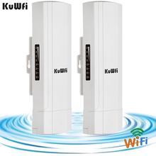 KuWFi extérieur CPE routeur Wifi répétdor Wifi Extender 2 Pics Distance de Transmission jusquà 3KM vitesse jusquà 300Mbps sans fil CPE