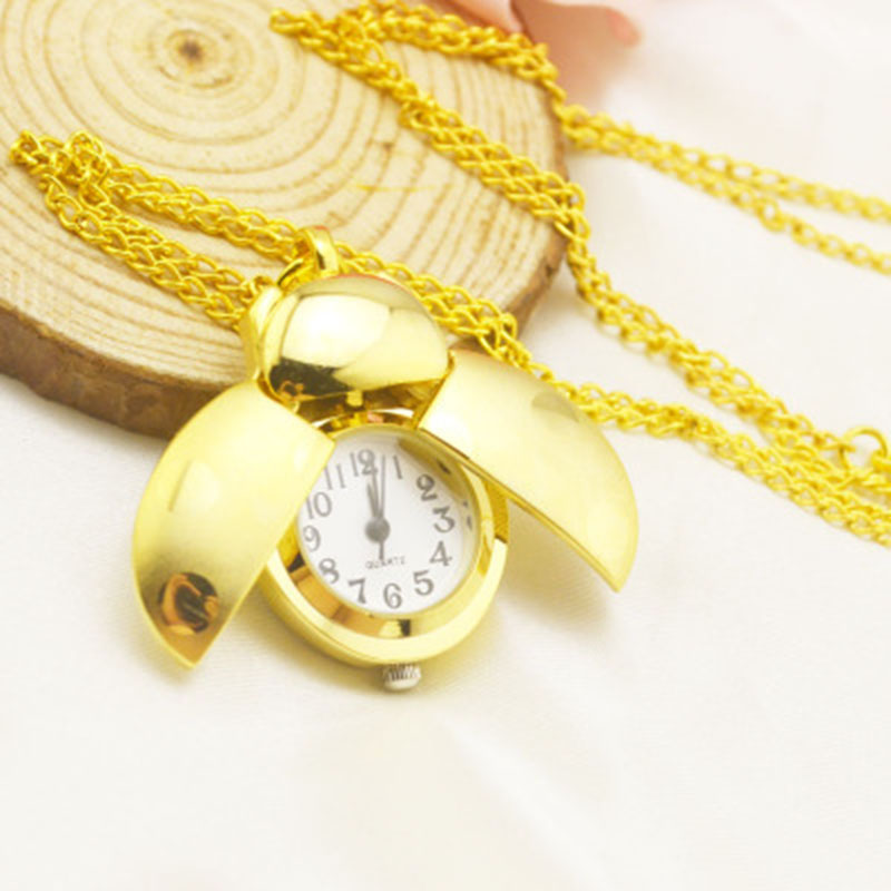 2019 Hot Sale Fashion Gold Beetle Pocket Watch Men And Women Necklace Gifts Ladybug Clock Birthday Gift For Boy Boy Girl
