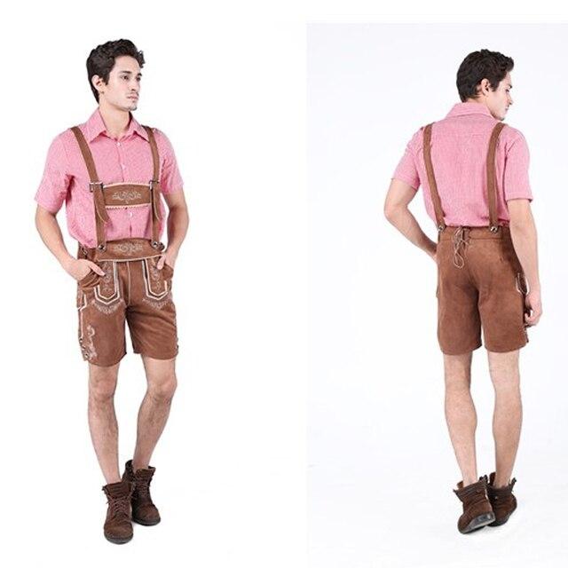 MOONIGHT 2 Pcs Hot German Beer Man Costumes Adult German Bavarian Oktoberfest Costume Men Halloween Cosplay Costumes 4