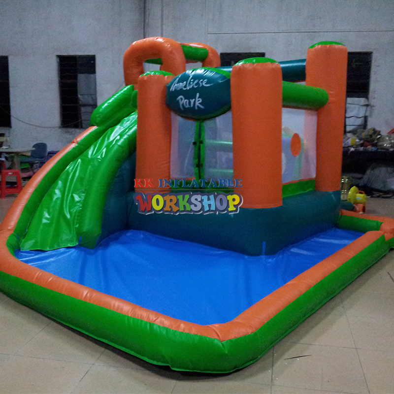 Inflatable Slide Pool Combination,inflatable Water Park