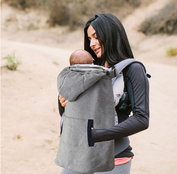 Portador de bebé del envío capa de terciopelo caliente del cabo del capote de invierno viento fuera necesario que lleva niños capa
