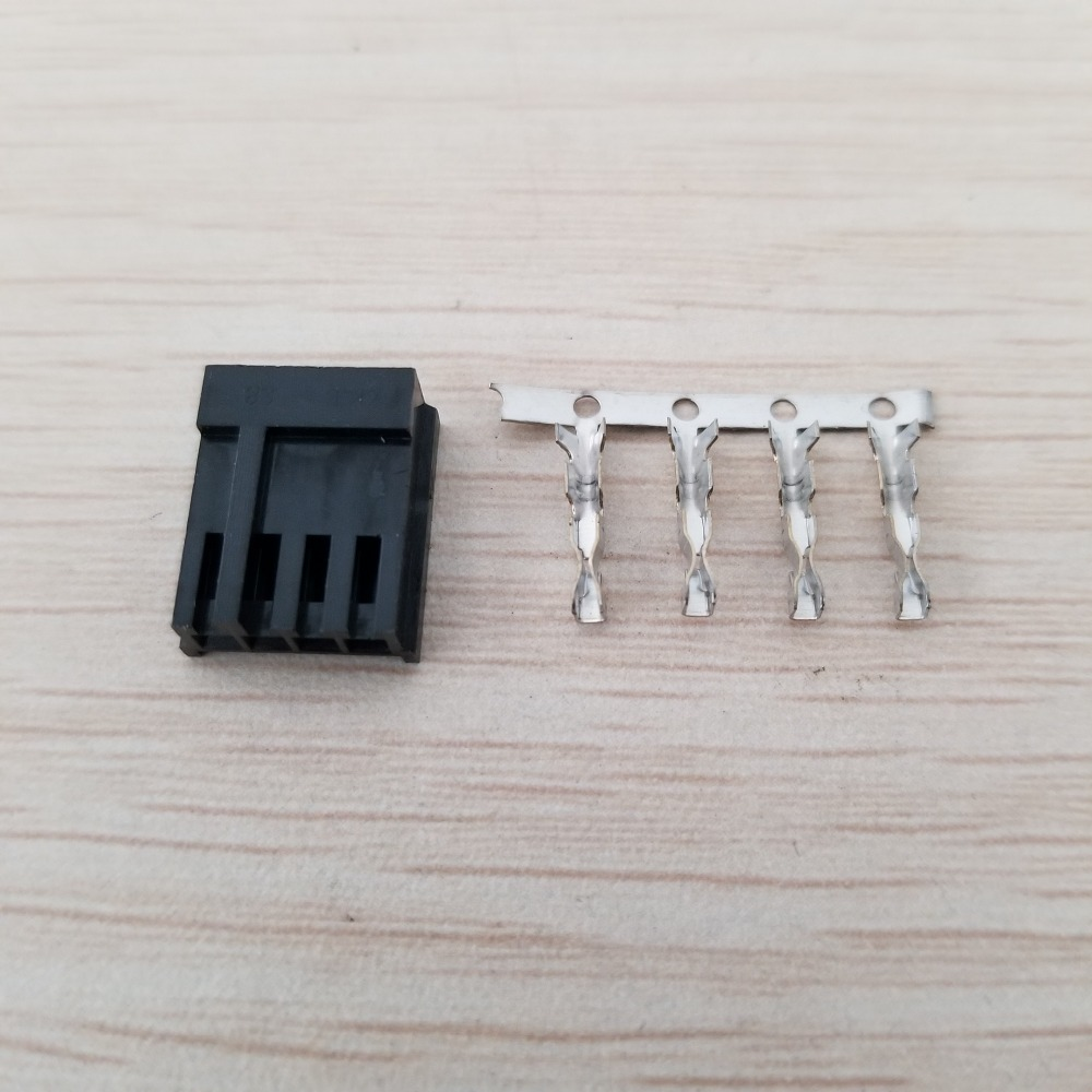 10 Set/lot Small 4Pin Floppy Power Small Black Plastic Shell And Floppy Connector Plastic Shell With Terminals