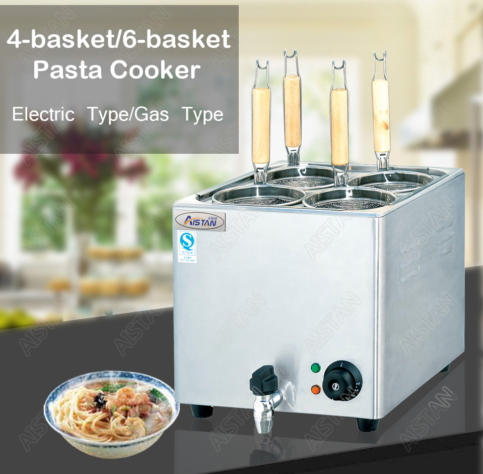 EH674  4-basket electric counter top pasta cooker for commerical use 2