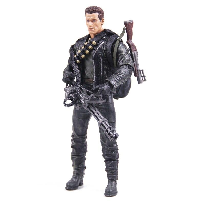 Classic Movie Arnold Schwarzenegger Doll NECA The Terminator 2 T800 Cyberdyne Showdown Model PVC Action Figure