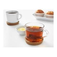 12pcs Plain Round Cork Coasters Set Coffee Cup Mat Drink Tea Pad Placemats Wine Table Mats Decor Kitchen Accessories