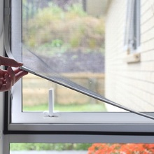 Easy To Install Magnetic Window Screen White Frame With