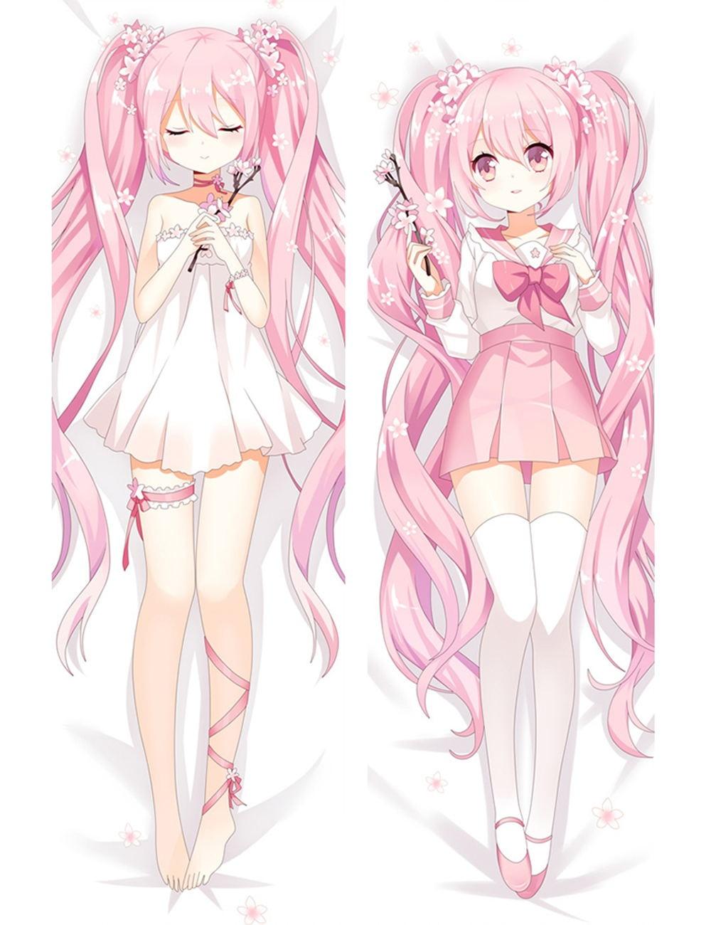 "59/"" Anime Vocaloid Hatsune Miku Dakimakura Hugging Body Pillow Case Cover 150CM"