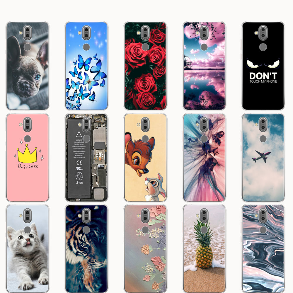 <font><b>case</b></font> For <font><b>Nokia</b></font> <font><b>8.1</b></font> 7.1 plus 2018 <font><b>case</b></font> Cover <font><b>Silicone</b></font> housing For Capa <font><b>Nokia</b></font> <font><b>8.1</b></font> / X7 2018 cover soft bumper coque cartoon cute image
