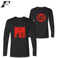 LUCKYFRIDAYF U2 Rocky Band T Shirts With Long Sleeve For Man And U2 Print Long Sleeve