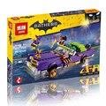 Leweihuan 433 unids diy modelo bloques de juguetes educativos de la serie de películas de batman the joker lowrider conjunto de bloques de construcción ladrillos niños juguetes