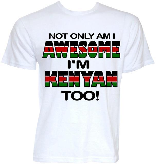 Mens Funny Kenya Kenyan Flag T Shirts Cool Novelty Joke Fun Gifts Presents Ideas Men