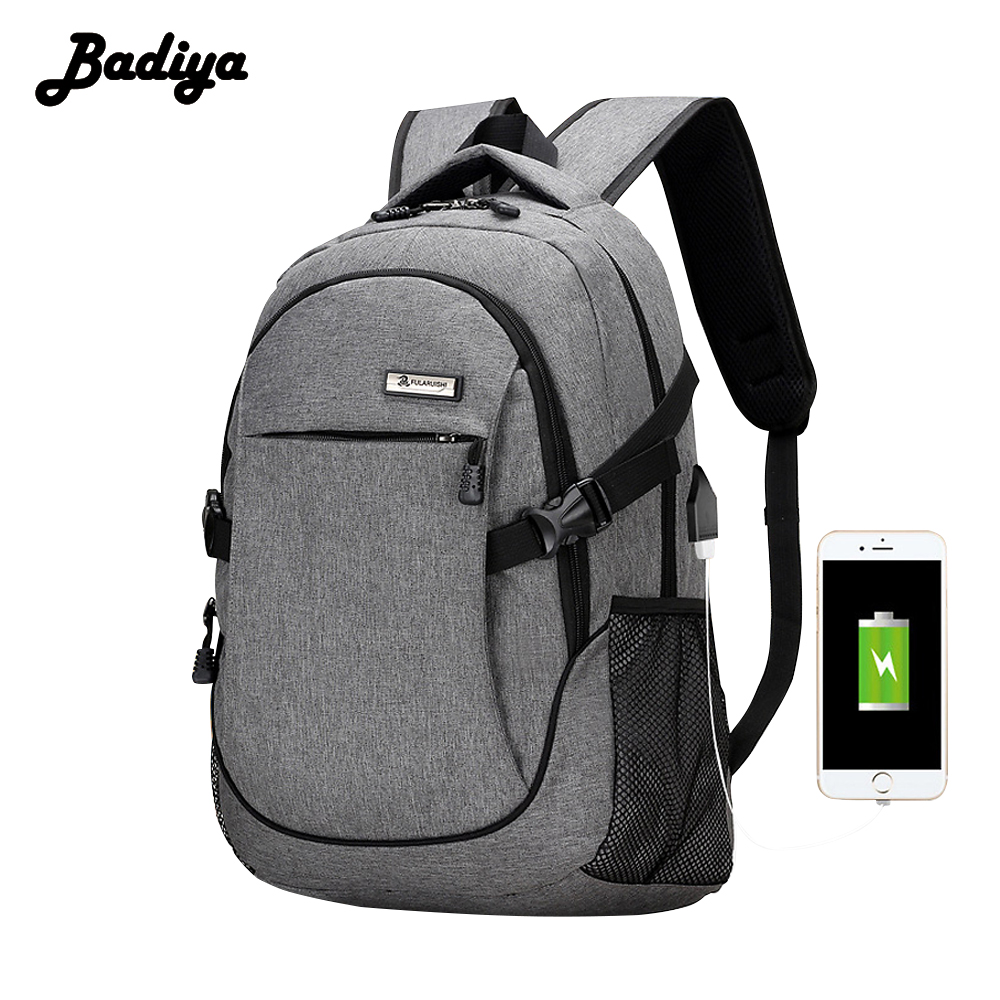 USB Charge Anti Theft Backpack Men 15inch Laptop Backpacks For Teenagers Male Mochila Waterproof Travel Backpack School Bag augur 2018 brand men backpack waterproof 15inch laptop back teenage college dayback larger capacity travel bag pack for male