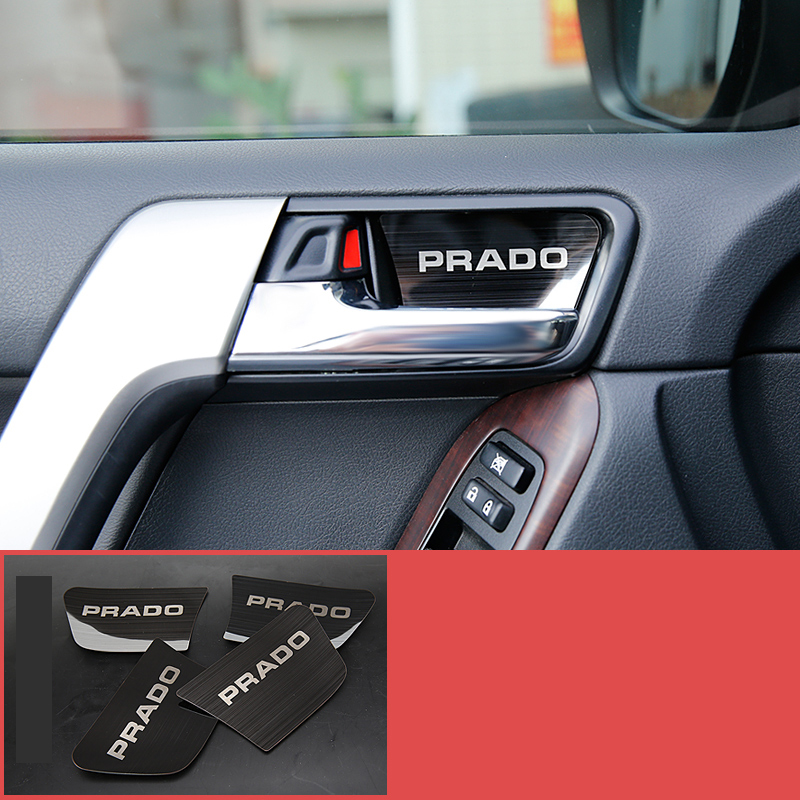 lsrtw2017 car door inside bowl trims for toyota land cruiser prado 2010 2011 2012 2013 2014 2015 2016 2017