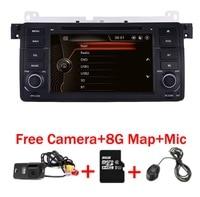 Заводская цена 1 Din dvd плеер автомобиля для BMW E46 M3 с gps Bluetooth Радио RDS USB рулевое колесо Canbus бесплатная карта + Камера MIC