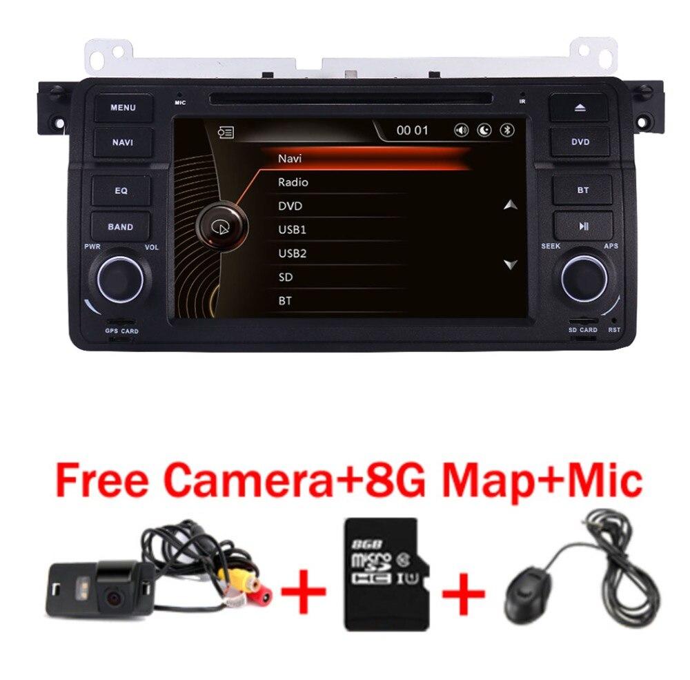 Usine Prix 1 Din Voiture Lecteur DVD pour BMW E46 M3 Avec GPS Bluetooth Radio RDS USB volant Canbus livraison Carte + Caméra MIC