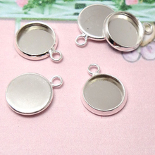 10pc/lot Fit 12/14/16/18/20/25mm Glass Cabochon Cameo Bracelet Charms Necklace Pendants Findings Bases Tray