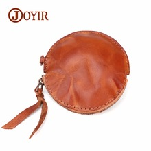 JOYIR Genuine Leather Coin Purses Women Small Wallet Fish Shaped Purses Mini Zipper Money Bag Children Pocket Wallets Key holder