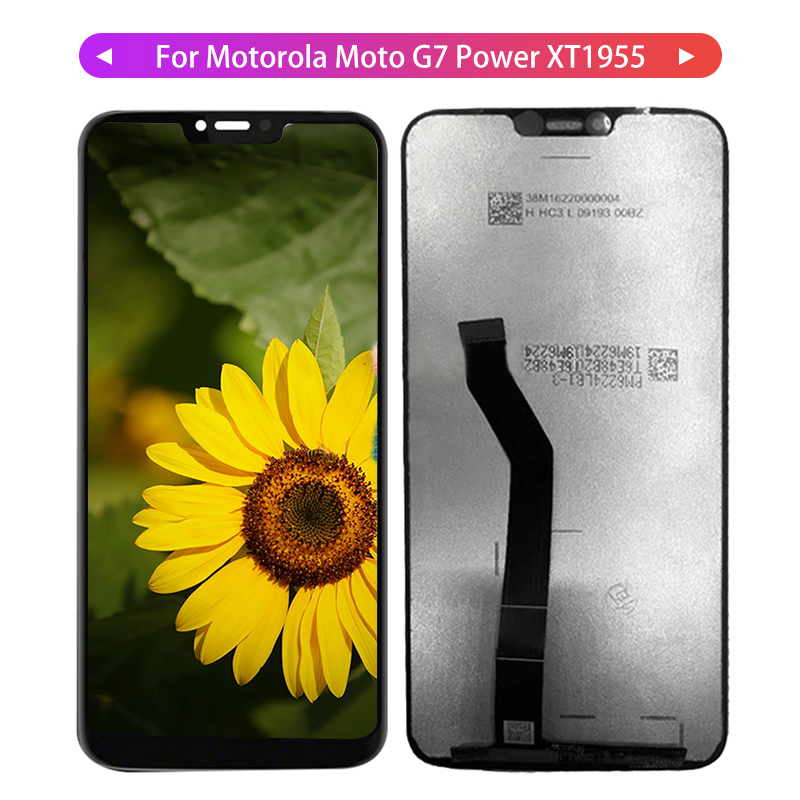 G7 LCD For Motorola Moto G7 Power <font><b>XT1955</b></font> Display LCD Display Touch Screen Panel Digiziter Assembly For Motorola Moto G7 <font><b>Parts</b></font> image