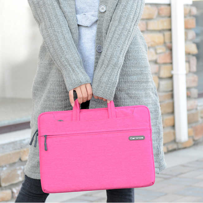 Cartinoe Laptop torebka na laptopa torebka na ramię wodoodporny notes torba dla macbook Air Pro 11 13 15 cal, czarny, niebieski, różowy,