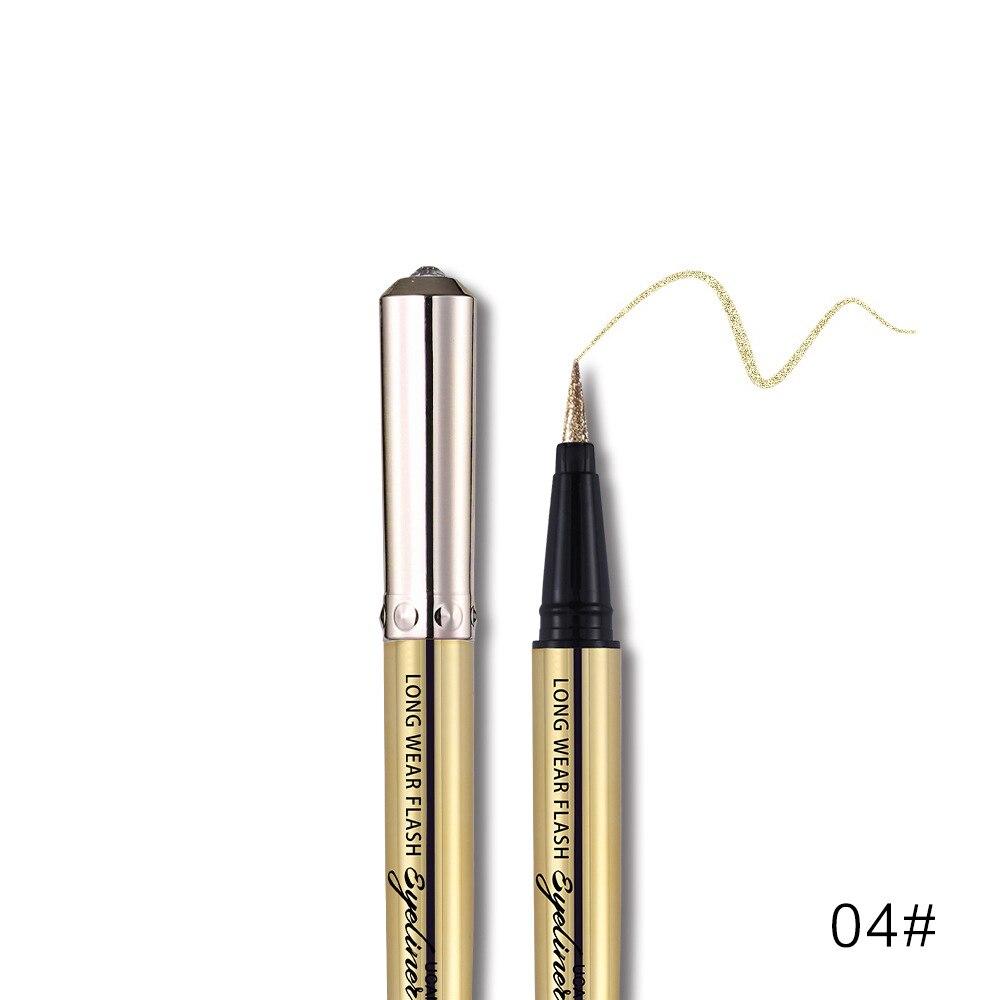 Ucanbe makeup glitter eyeliner pencil 5colors purple blue green eye liner waterproof long lasting liquid white eyeliner AU045 7