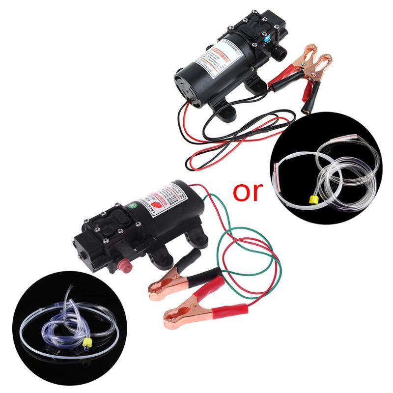 Otomobiller ve Motosikletler'ten Yakıt Pompaları'de 12V Elektrikli Extractor Pompa Transferi Yağ Sıvı Dizel Sifon Araba Motosiklet 60W title=
