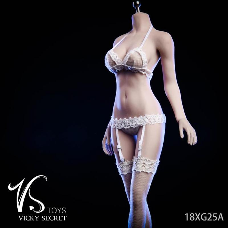 "1:6 Female White Short-sleeved shirt  F 12/"" TBLeague Phicen Large Bust Body Doll"